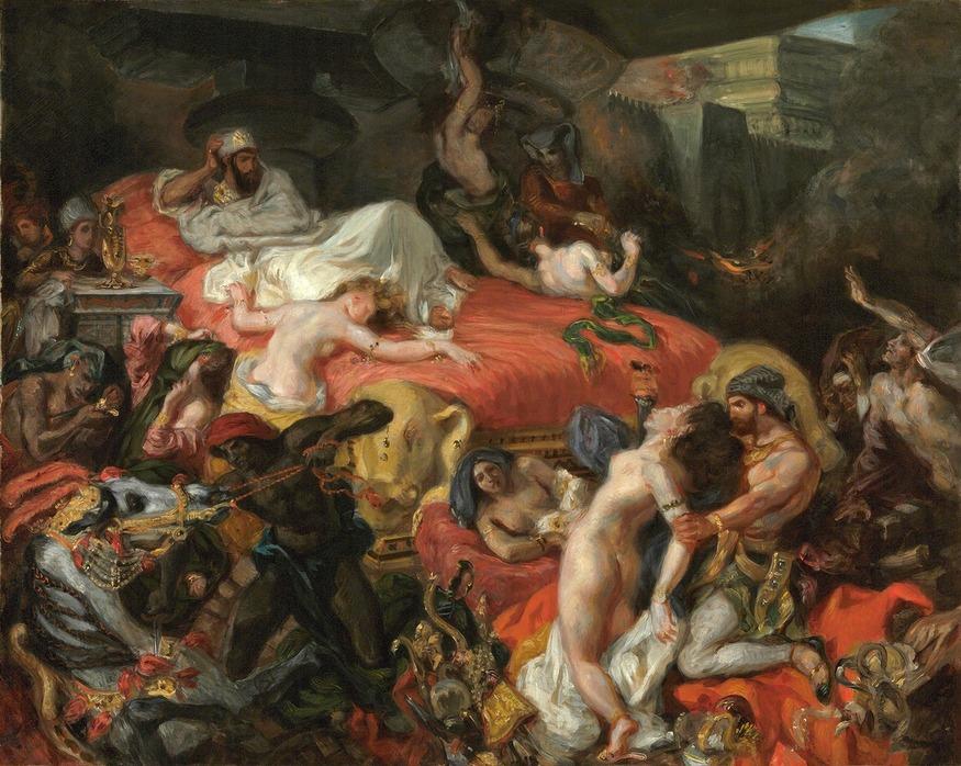 The Death of Sardanapalus, 1844