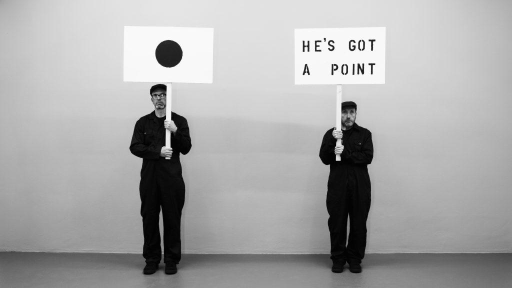 "John Wood & Paul Harrison, Demo Tape, 2020. Image courtesy the artists & von Bartha.8'57"" / 4K / Single channel / 16:9"