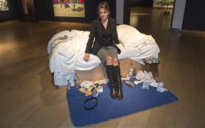 Tracey Emin with My Bed. Photo: Telegraph