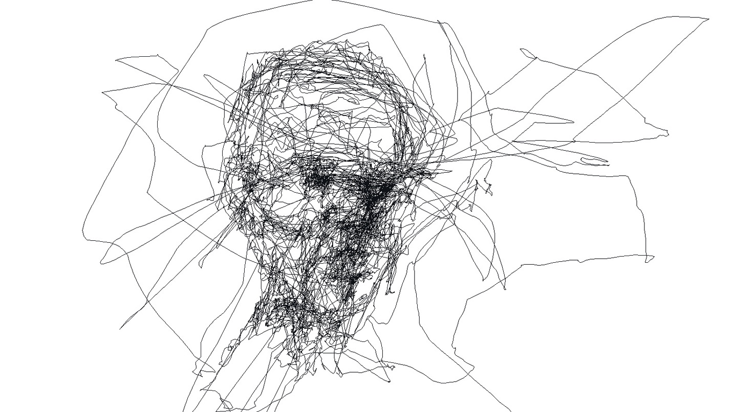 Line Art Portrait : Get a portrait created by the eyes of artist graham fink fad