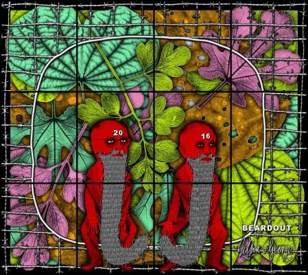 Gilbert & George 'BEARDOUT' (2016)  226 x 254 cm.  © Gilbert & George. Courtesy White Cube. FAD Magazine