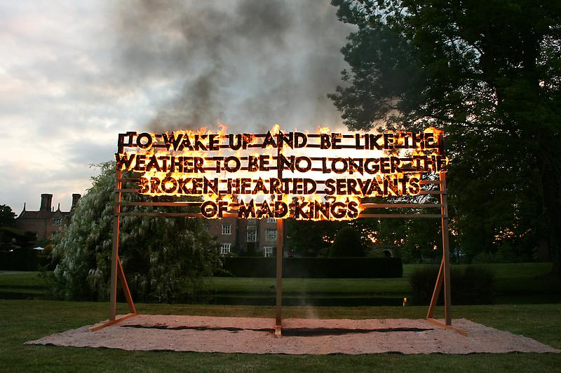 Fire Poem, Robert Montgomery