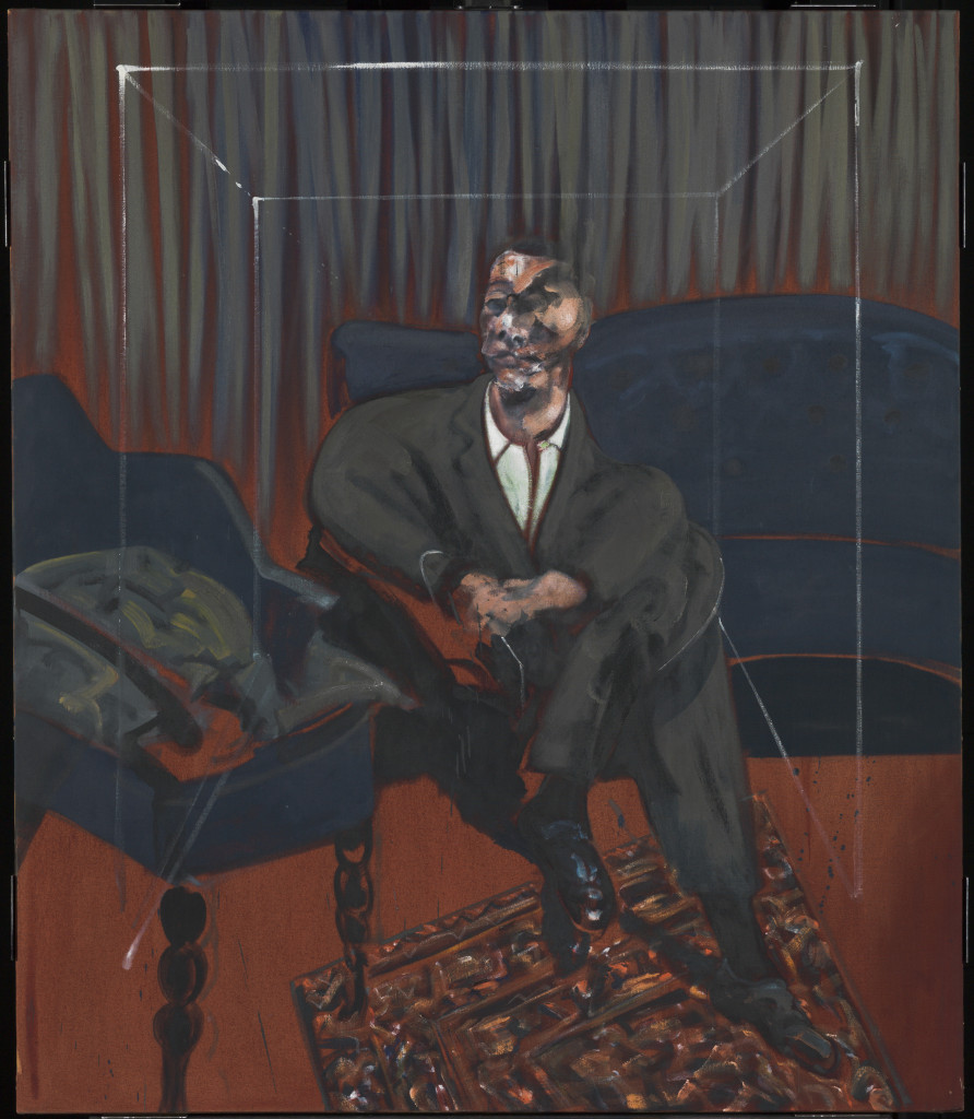 Francis Bacon, 1909-1992  Seated Figure 1961 Oil paint on canvas  1651 x 1422 mm