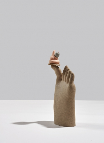Genesis Belanger As You Please 2019 stoneware, porcelain 35.6 x 15.2 x 10.2 cm, 14 x 6 x 4 in