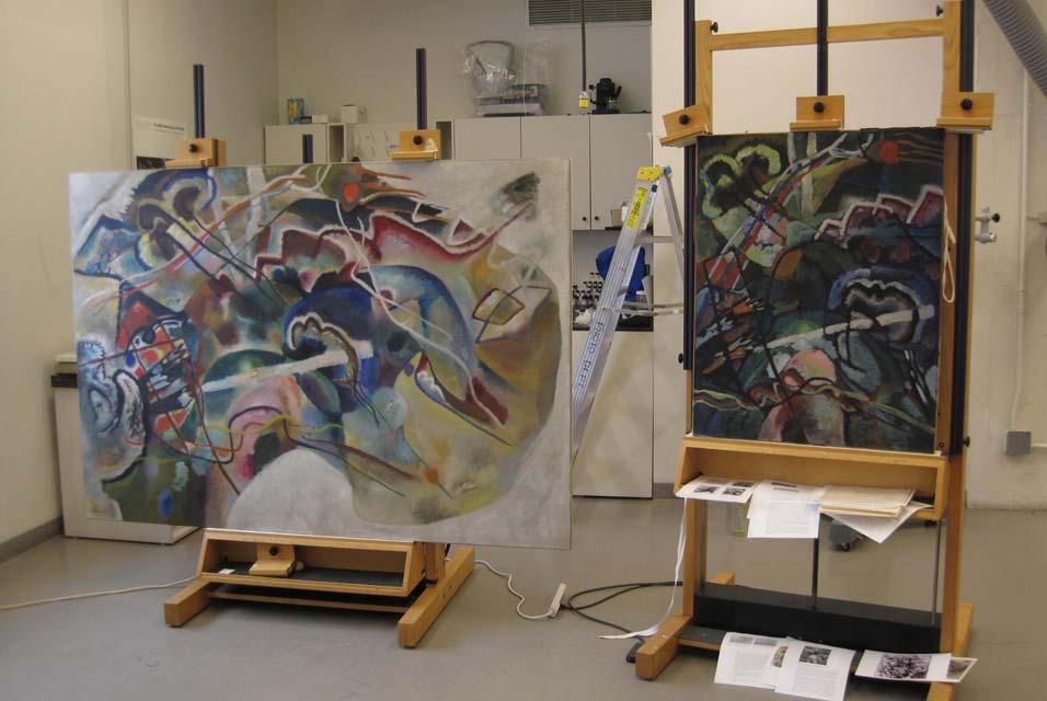 Kandinsky S Painting With White Border At Guggenheim Museum