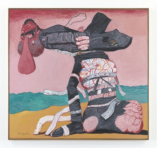 San Clemente — Philip Guston, 1975 Oil on canvas 172.7 x 186 cm / 68 x 73 1/4 in © The Estate of Philip Guston Courtesy the Estate and Hauser & Wirth Photo: Christopher Burke