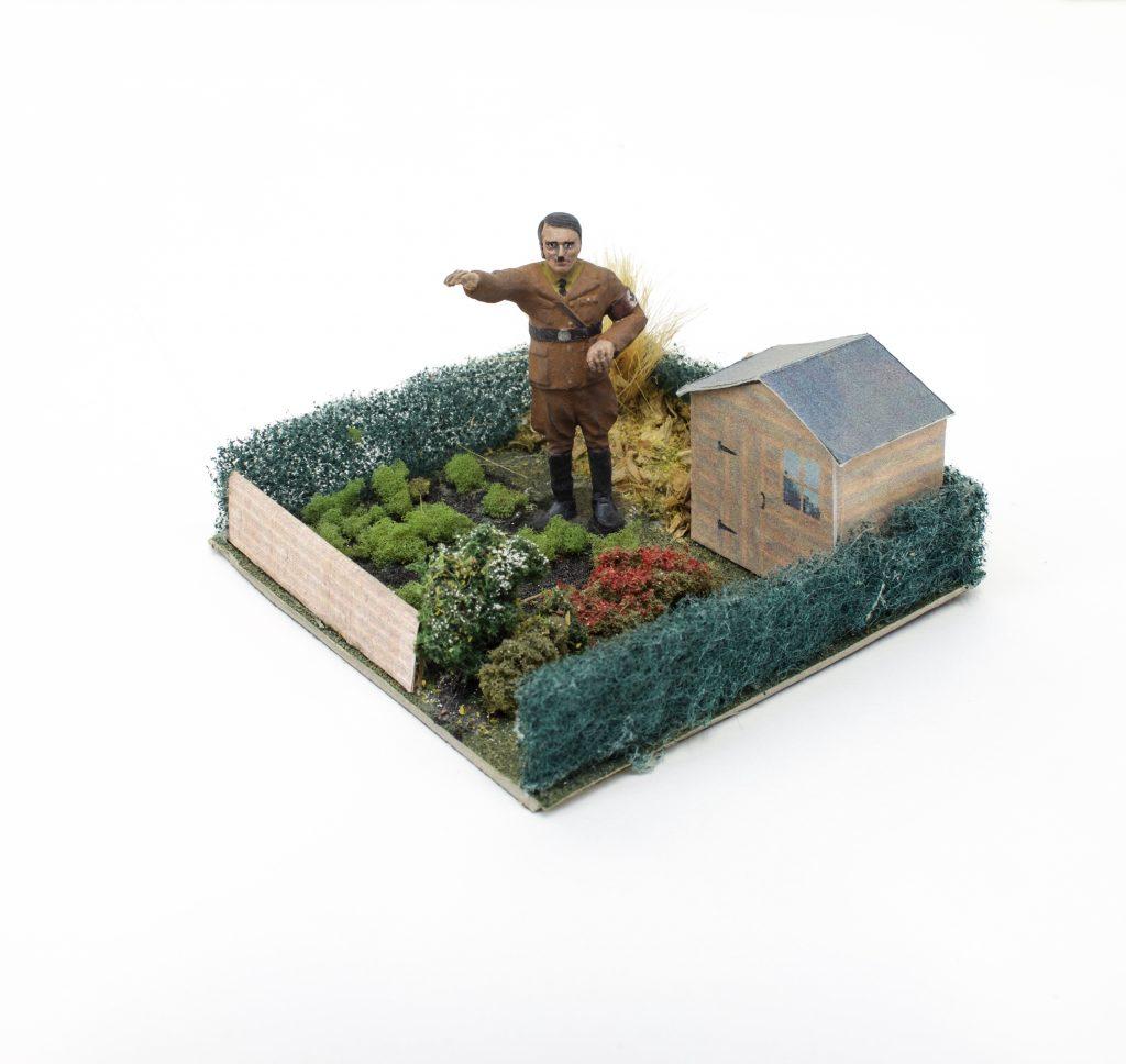 hitler in garden
