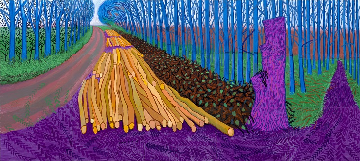 David Hockney Winter Timber, 2009 Oil on 15 canvases 274 x 609.6 cm Private Collection Copyright David Hockney Photo credit: Jonathan Wilkinson