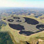 China energy company builds giant 250-acre panda shaped solar farm