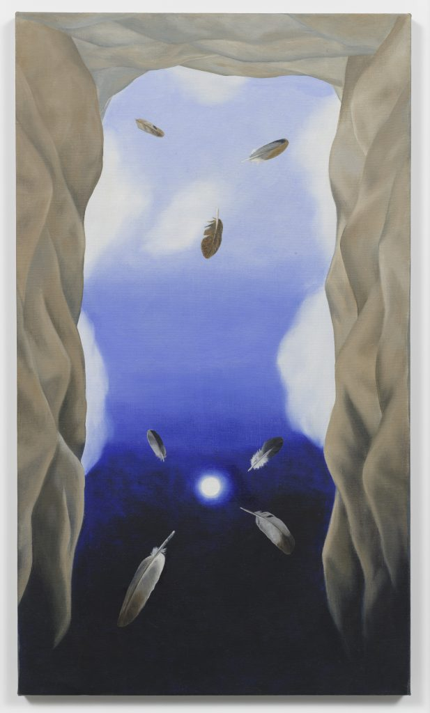 Luchita Hurtado, The Umbilical Cord of the Earth is the Moon, 1977, Oil on canvas, Unique, 101.6 x 58.4 cm, © Luchita Hurtado, Courtesy the artist and Hauser & Wirth, Photo: Jeff McLane