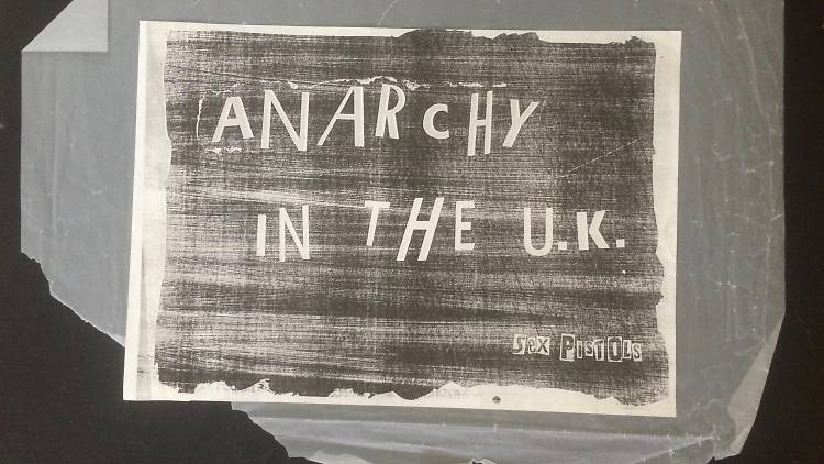 amie Reid, Anarchy In The UK, 1976, Courtesy John Marchant Gallery