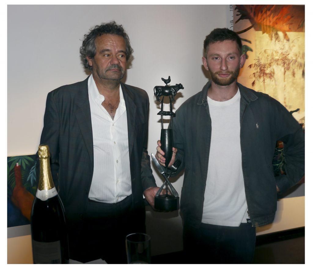 Mark Hix with the winner of the prize, Joshua Raz
