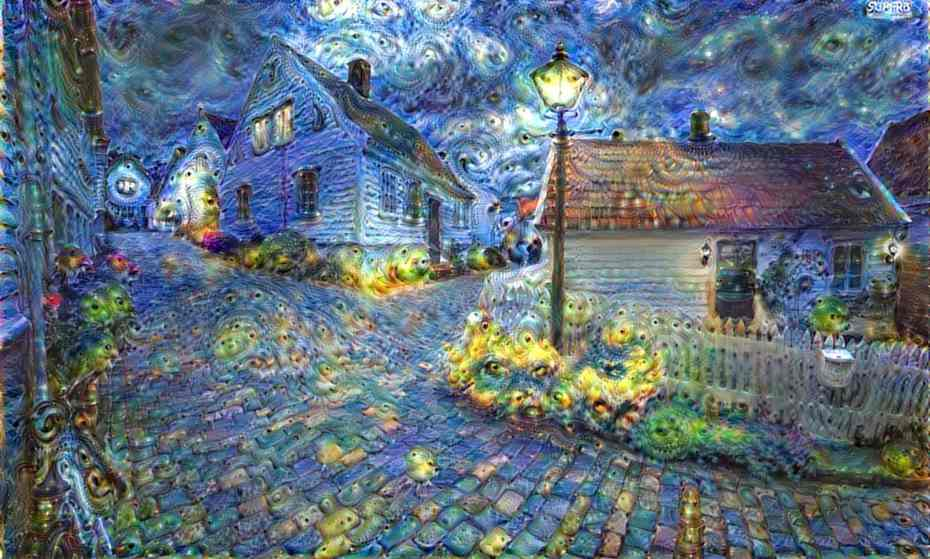 Moonage Daydream: art created by Deep Dream. Photograph: Deep Dream