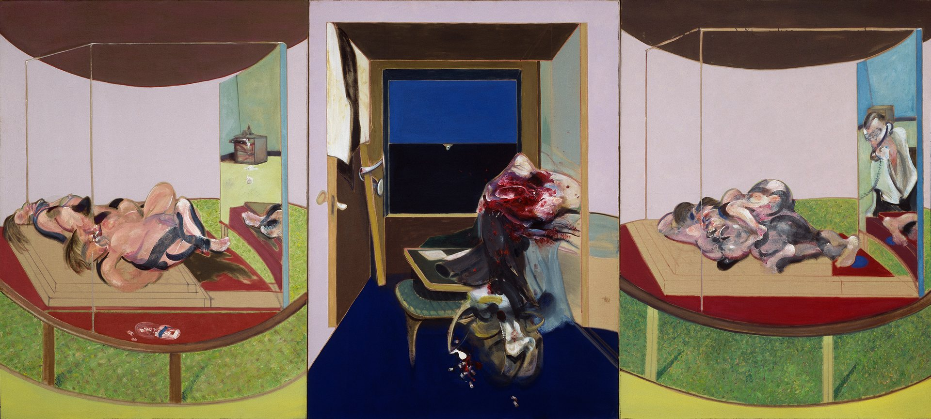 'An opera of gaping mouths and writhing figures': Triptych, 1967 by Francis Bacon. Photograph: © The Estate of Francis Bacon. All Rights Reserved. DACS 2016