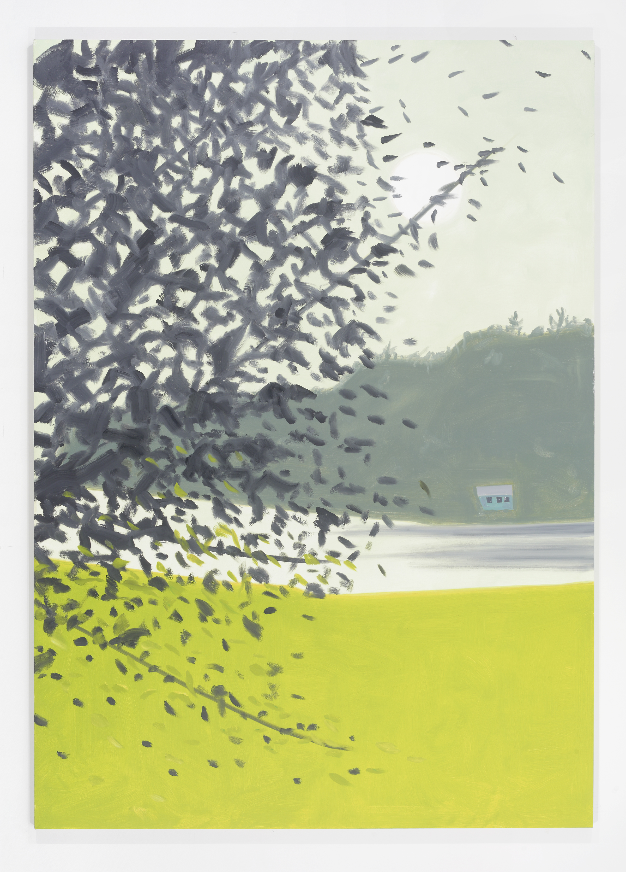 Alex Katz 4 pm, 2014; Oil on linen, 365.8 x 274.3 cm; The Collection of Marguerite Steed Hoffman; Courtesy of Gavin Brown's enterprise; © Alex Katz, DACS, London/VAGA, New York 2016; Photograph: Paul Takeuchi