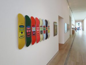 Warhol skate decks from The Skateroom