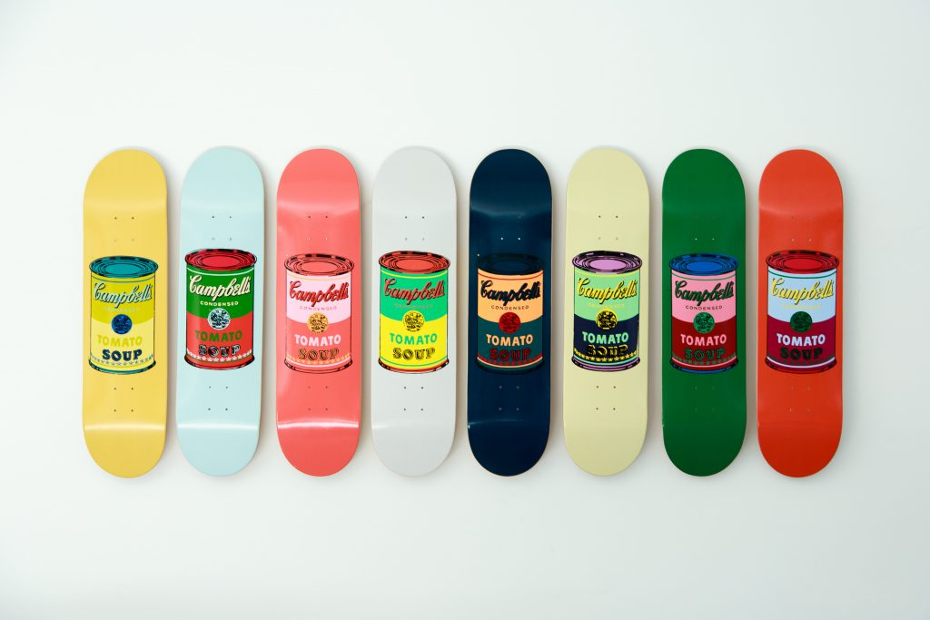 Warhol soup cans for The Skateroom