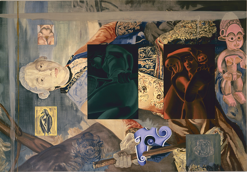 Lampwick's Dilemma, 1989 oil and acrylic on canvas 94 x 136 inches