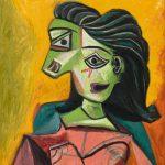 PABLO PICASSO Buste de femme (Dora Maar), 1940 Oil on canvas, 29 1/8 x 23 5/8 in, 74 x 60 cm © 2019 Estate of Pablo Picasso/Artist Rights Society (ARS), New York Photo: Erich Koyama. Courtesy Gagosian