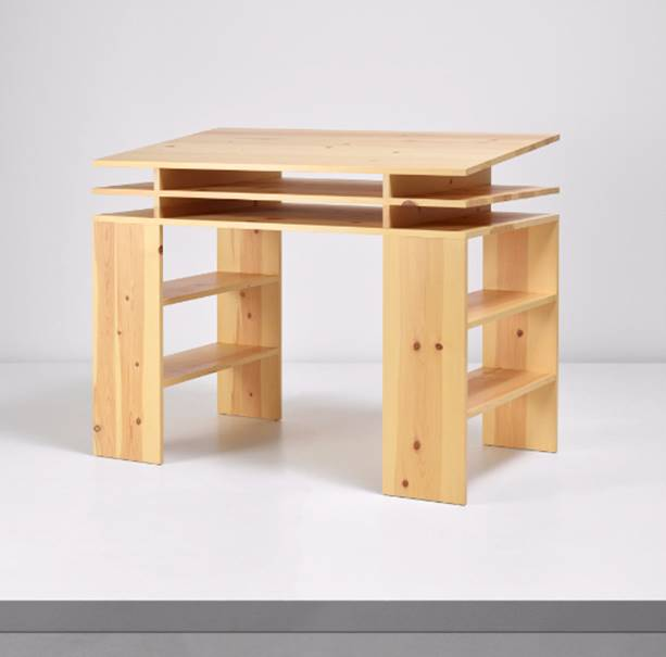 Donald Judd  Standing Writing Desk #40, Designed in 1984 and executed in 2012.  Estimate: £5,000 - 7,000  To be offered in the Online-Only Sale of Desktop