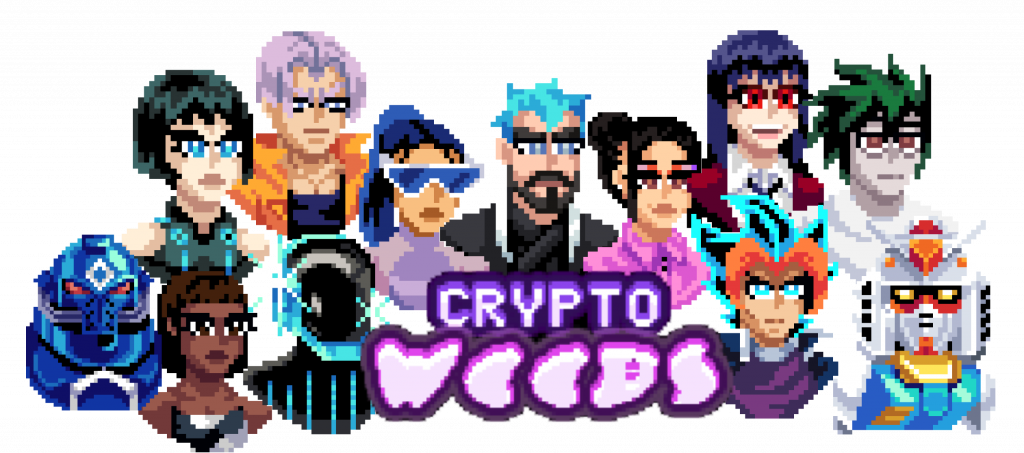 WEB3 avatar rollcall. Still from Crypto-weebs.com