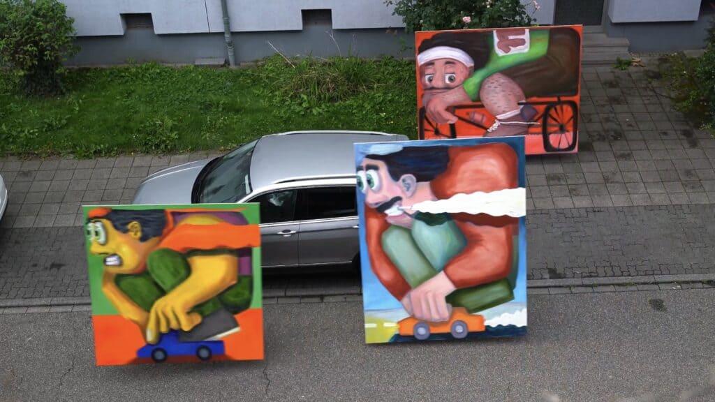 Andre Wendland Car Paintings FAD magazine