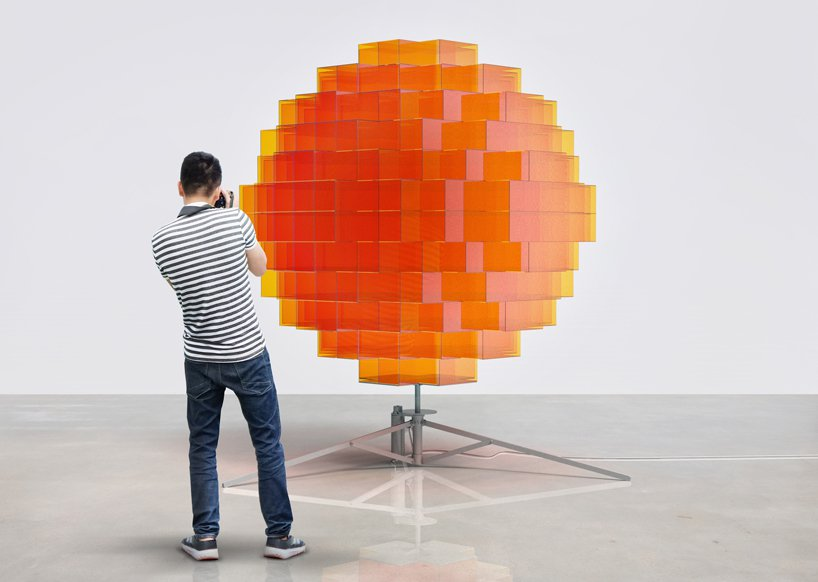 Paris based artist Vincent Leroy's  Sunrise installation. FAD MAGAZINE