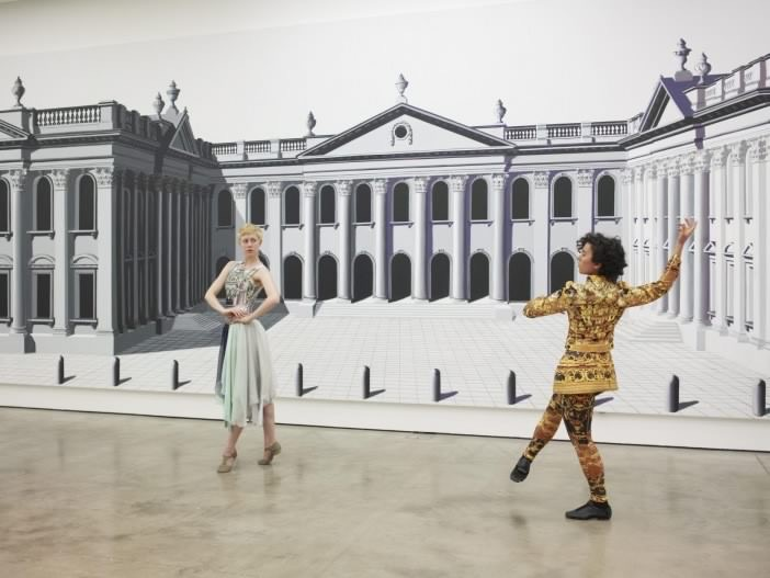 Acrylic on canvas 3.5 x 16 m / 11.5 x 53 ft Performance view Institute of Contemporary Arts, London Courtesy of Herald St, London and Franco Noero, Torino © Pablo Bronstein