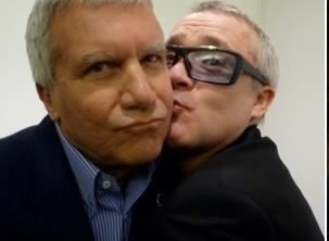 Larry Gagosian and Damien Hirst