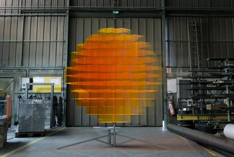 Paris based artist Vincent Leroy's  Sunrise installation.