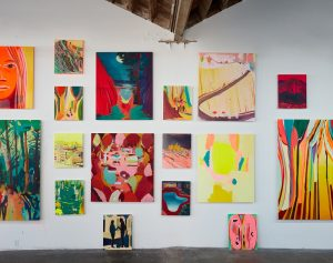 Jules de Balincourt- Stumbling Pioneers at Victoria Miro Installation view