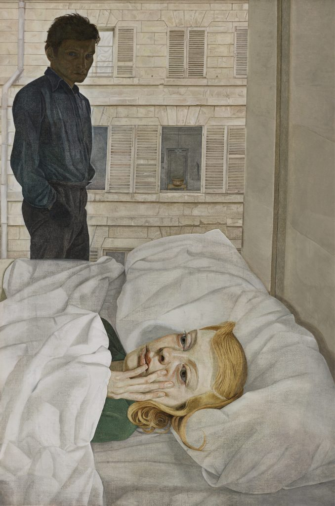 Hotel Bedroom, 1954 Oil on canvas, 91.5 x 61 cm Gift of the Beaverbrook Foundation, collection of the Beaverbrook Art Gallery © The Lucian Freud Archive / Bridgeman Images FAD magazine