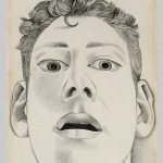Startled Man: Self-portrait, 1948 Pencil on paper, 22.9 x 14.3 cm Private collection © The Lucian Freud Archive / Bridgeman Images FADmagazine