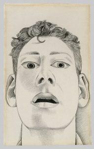 Startled Man: Self-portrait, 1948 Pencil on paper, 22.9 x 14.3 cm Private collection © The Lucian Freud Archive / Bridgeman Images FADmagazine