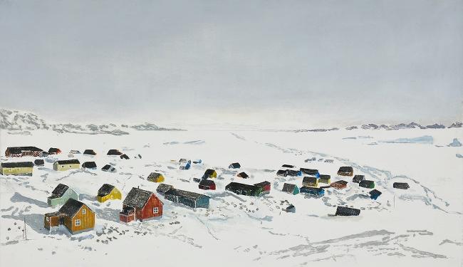 Ellen Karin Mæhlum Arctic View 2020 Carborundum and stencil