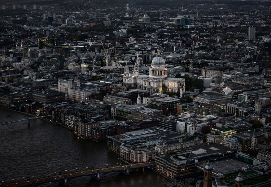 St Paul's Cathedral from the Shard, London, England