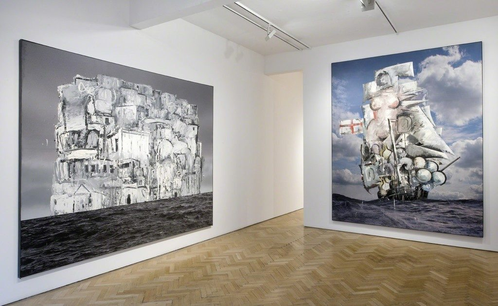 Marcus Harvey, The English Cemetery, 2016 and Untitled (Big Galleon), 2016