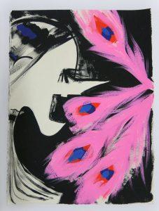 Ellen Berkenblit Gouache and graphite on paper, 2016 The Dot Project