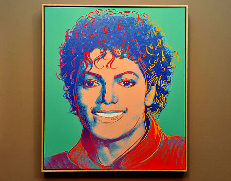 An 1984 Andy Warhol orignal painting of Michael Jackson