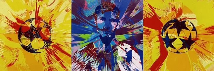 murakami-hirst-messi-charity-auction-designboom-03