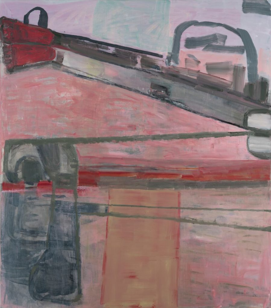 Amy  Sillman  Splitsville,  2017Acrylic  and  oil  on  linen  190.5  x  167.6  cm  /  75  x  66  inches  ©  the  artist  Courtesy  Capitain  Petzel,  Berlin  Photo:  John  Berens