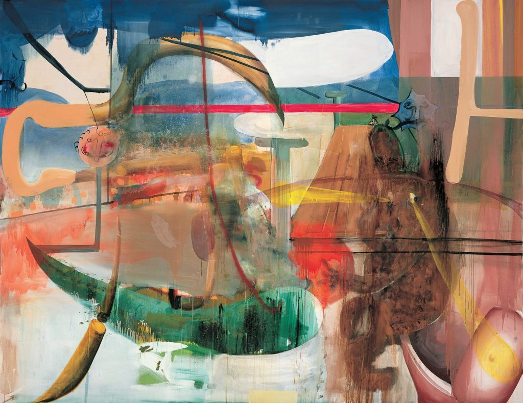 Albert Oehlen, Sohn von Hundescheisse, 1999, oil on canvas, 278 x 359cm, Private Collection, Photo: Archive Galerie Max Hetzler, Berlin | Paris © Albert Oehlen