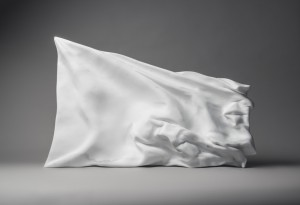 Richard Stone, only in the ruins will you be free (2014), statuario marble, 91x57x10cm