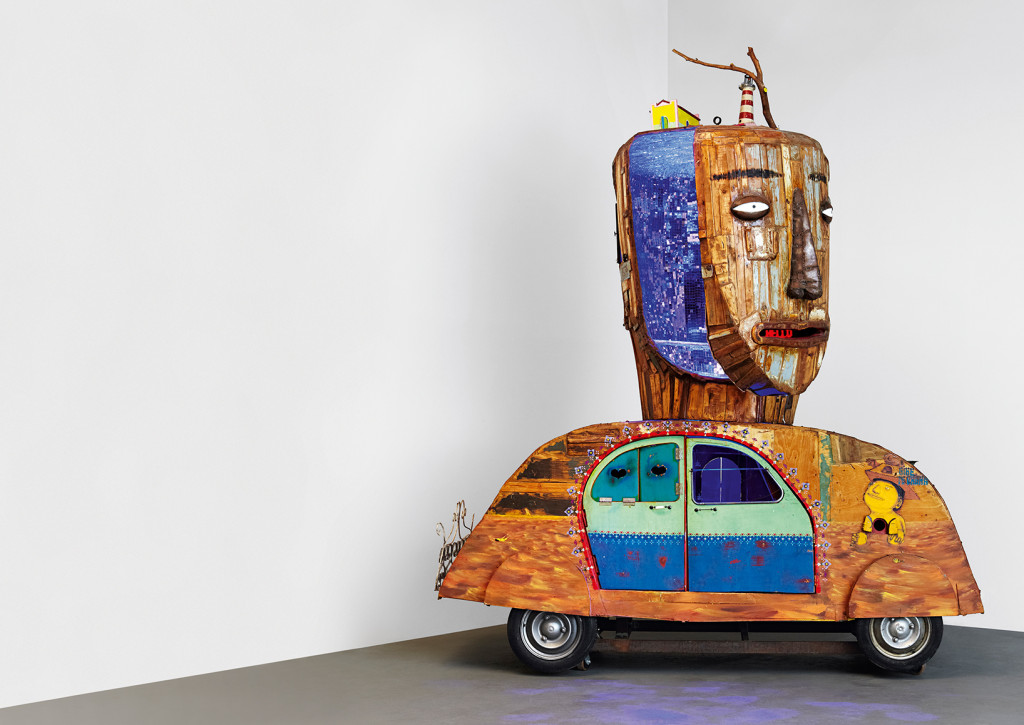 Os Gemeos has created this great Volkswagen Beetle installation
