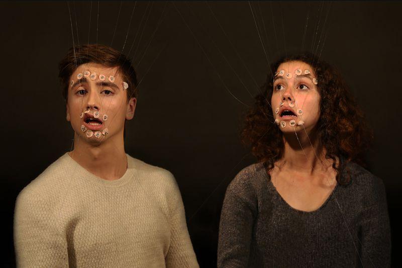 Jakob Rowlinson 'Facial Poetics Appendix puppeteering Adrien & Virginia' …ance HD video