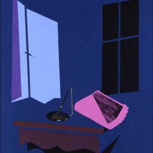 Patrick Caulfield, Evening Paper, 1999, acrylic on canvas, 91.4 x 76.2 cm. Image courtesy Waddington Custot