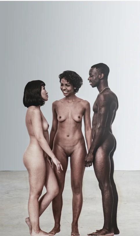 Michelangelo Pistoletto: 'Messa a nudo – C', 2020 Silkscreen on super mirror stainless steel