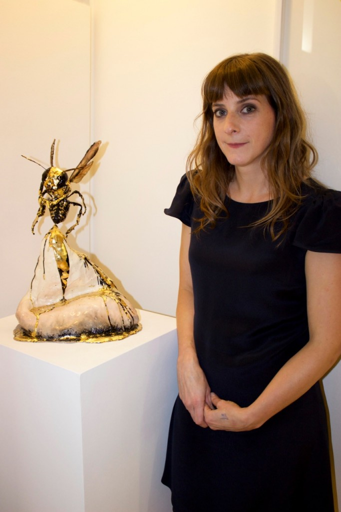 Rhea Thierstein with her sculpture  Photo credit: Elin Hornfeldt