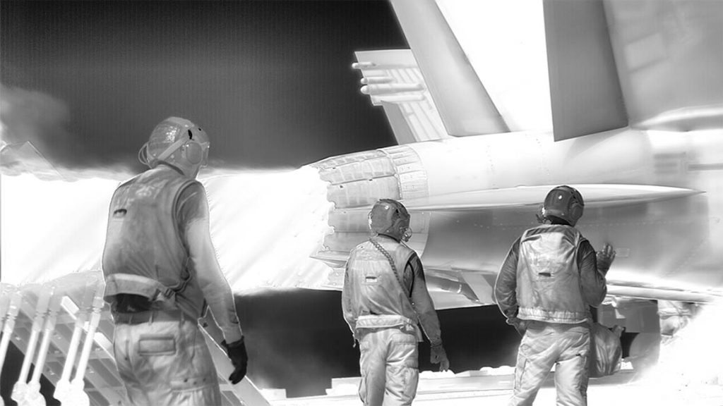 Richard Mosse Still frame from Incoming, 2015–2016.