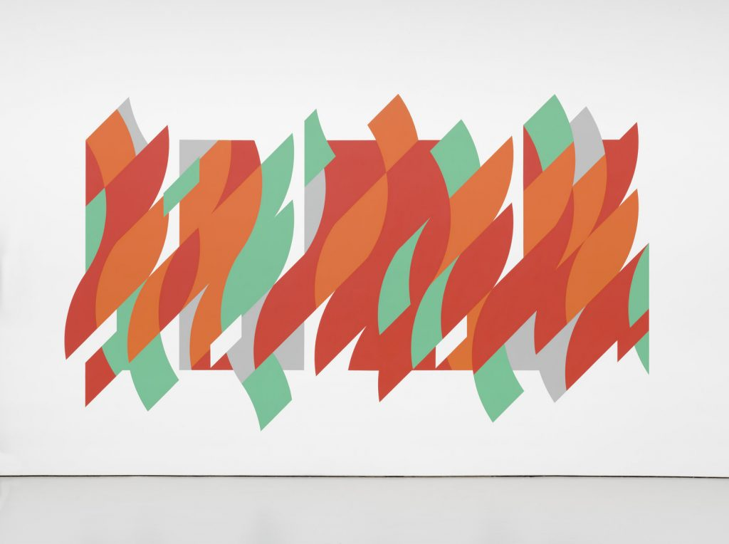 Bridget Riley Rajasthan, 2012 Installation view, Bridget Riley, David Zwirner, New York, 2015  © Bridget Riley 2019. All rights reserved.  Courtesy the artist and David Zwirner Photo by Tim Nighswander FAD magazine